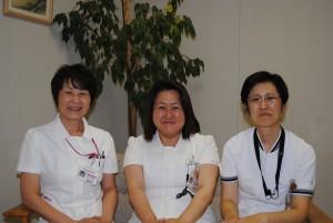 内山副看護部長-太田看護部長-増田副看護部長(左から)